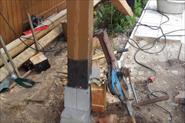 срез несущих столбов дома