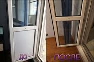Замена стеклопакета в балконной двери (ПВХ)