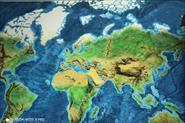 Карта мира горельеф