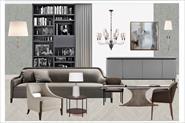 Подбор мебели. Коллаж гостиной и спальный