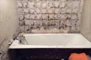 Ванна под ключ и туалет. До и после наша работа