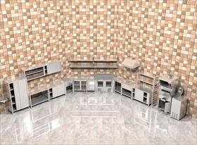 Кухня для одного из предприятий быстрого обслуживания