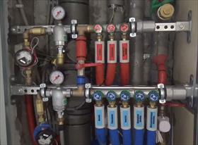 Сборка вводного узла водоснабжения