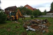 Демонтаж фундамента дома