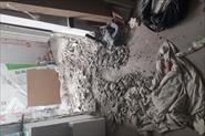 Демонтаж порога и откосов балкона.