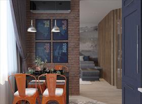 Дизайн проект апартаментов (54 м2)