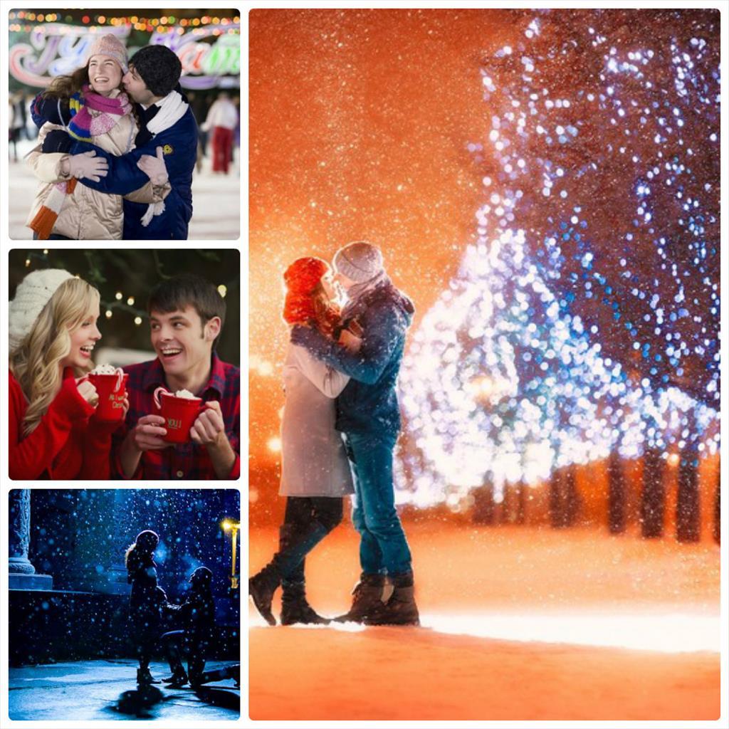 зимние фотосессии влюбленных