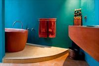 Варианты дизайна покраски стен в ванной