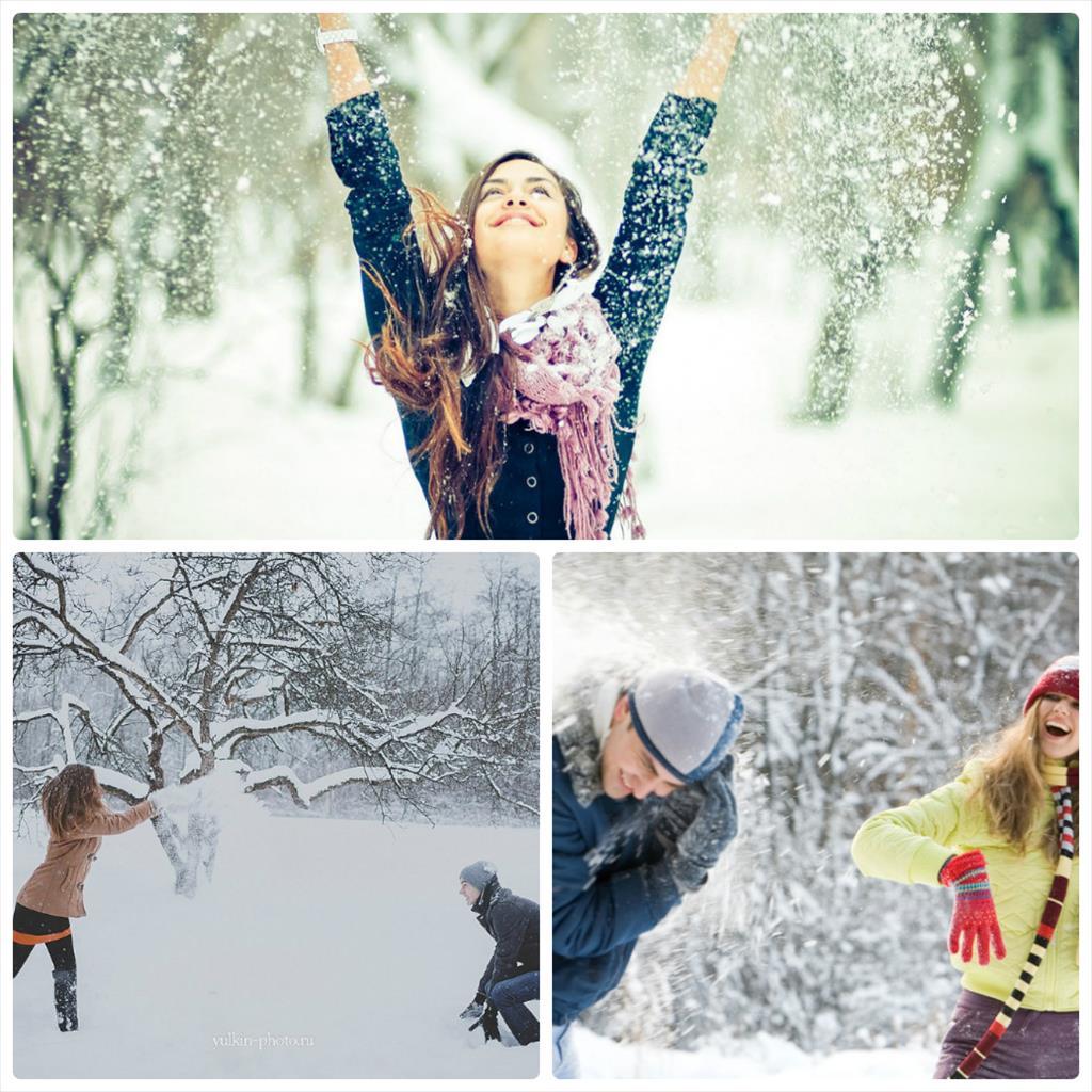 фотосессия в парке зимой идеи