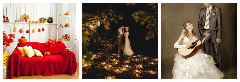 свадьба осенью идеи без листьев